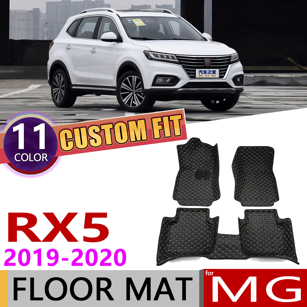 Custom Car Leather Floor Mats For MG RX5 5 Seats 2019~2020 Waterprool Anti-dirty Auto Interior Foot Pad Carpet Cover Accessories