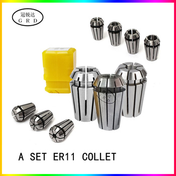 15pcs/set ER11 1-7mm spring collet high precision set for CNC Engraving Machine Lathe Mill Tool er11 chuck tool holder - discount item  50% OFF Machinery & Accessories