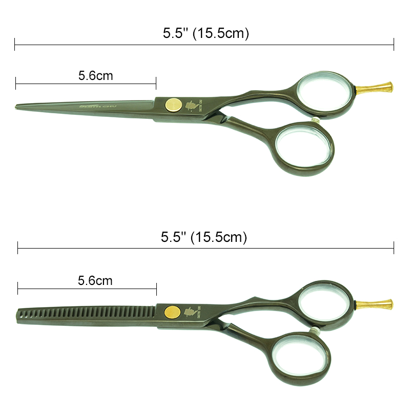 Купить с кэшбэком SMITH CHU 5.5 inch Professional Hairdressing Hair Cutting Shears Salon Barber Thinning Scissors Styling Haircut Shears A0016C
