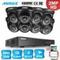 ANNKE 1080P 8CH casa Sistema de Video seguridad Lite H.264 + 5in1 1080N DVR 4X8X1080 cámara CCTV a prueba de intemperie inteligente IR Domo