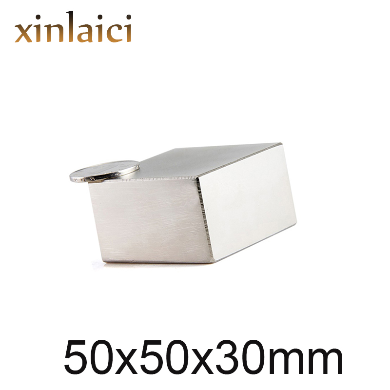 1/3/5 pièces Bloc 50x50x30mm Super N52 Terre Rare aimants Néodyme Aimant 50*50*30mm