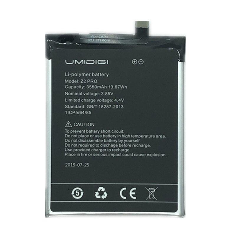 Umi Z2 ProBattery UMIDIGI Z2 Pro High Quality Original Large Capacity 3550MAh Back Up For UMI Z2 Smart Phone Battery