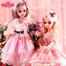 UCanaanตุ๊กตาBJD 1/4 SDตุ๊กตา18นิ้ว18 Ball Jointedตุ๊กตาเสื้อผ้าชุดวิกผมผมแต่งหน้าของขวัญหญิง