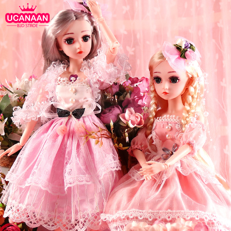 UCanaan BJD Doll 1/4 SD Dolls 18inch 18 Ball Jointed Dolls with Clothes Outfit Shoes Wig Hair Makeup Best Gift for Girls