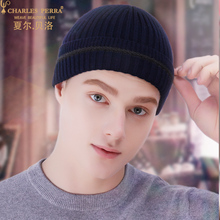 Beanies Hat Men Winter Thermal Knitted Hats Fashion Trend Autumn New Skullies Male Headwear Dark Grey Navy Blue 1231