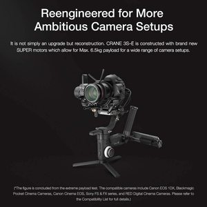 Image 3 - Zhiyun Crane 3S 3 Axis Handheld Gimbal Stabilizer for DSLR Cameras and Camcorder, 6.5kg Payload, Extendable Roll Axis