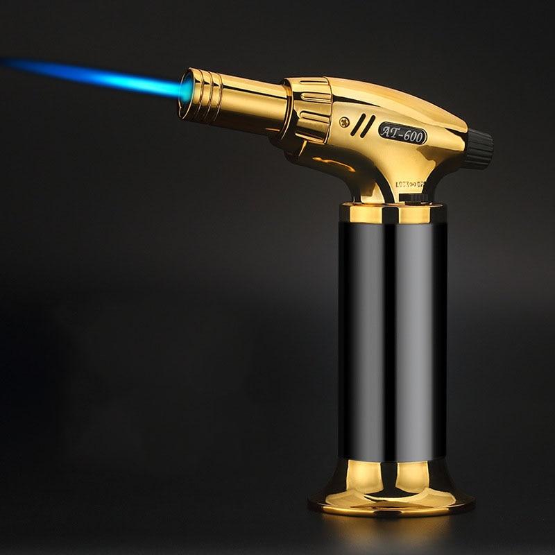 Большой огневой мощи креативный пистолет сварочный фонарь металлическая зажигалка голубое пламя Бутан сварочный фонарь ветрозащитная мно...