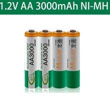 Aa 3000 1.2 V Quanlity Oplaadbare Batterij Aa 3000Mah Ni-Mh 1.2 V Oplaadbare 2A Batterij 3000 + Gratis Verzending