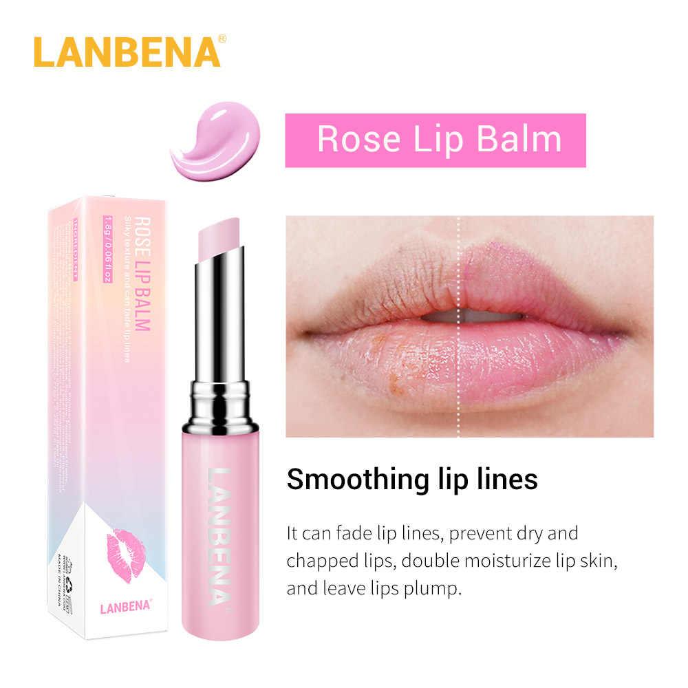 Lanbena camaleão batom hidratante nutrir lábio rosa ácido hialurónico linhas de lábio plumper natural extrato compõem cuidado labial