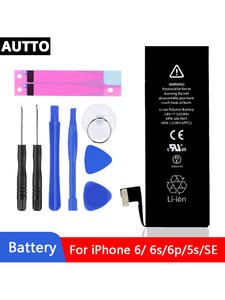 Phone-Battery Xs-Max-Replacement 8-Plus for SE 5S 5c/6 6S Built-In XR 100%Aaa-Grade New
