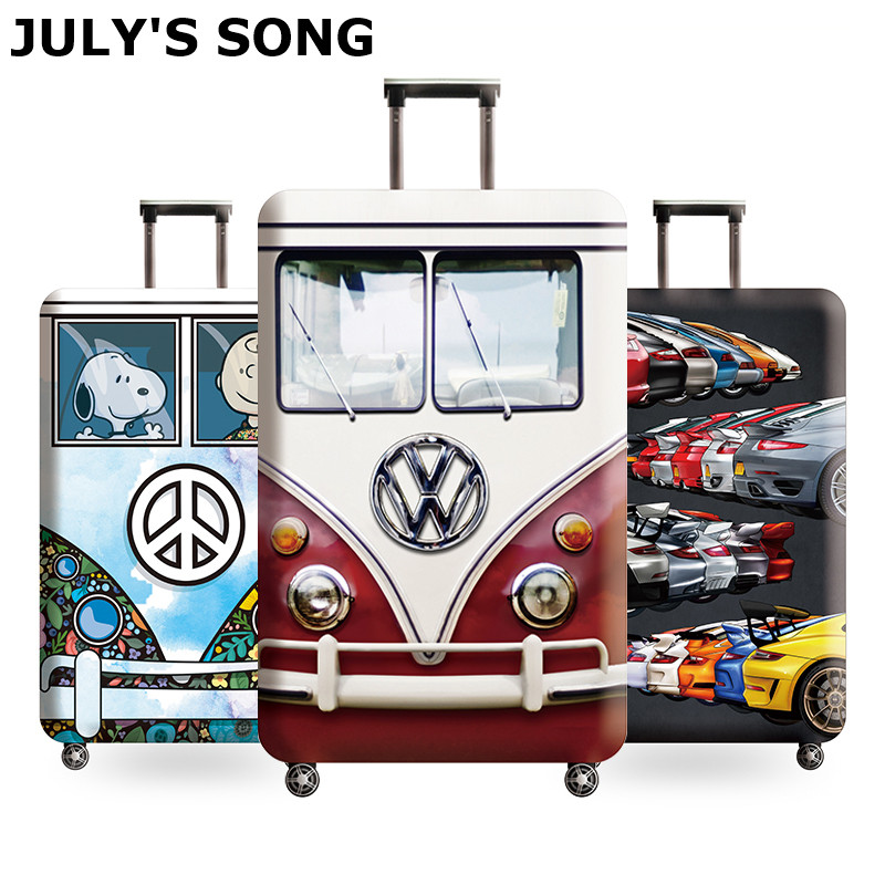 JULY'S SONG High Quality Luggage Suitcase Cover Hot Sale Travel Accessories Elastic Dust Cover Suitable For 18'' - 32'' Suitcase
