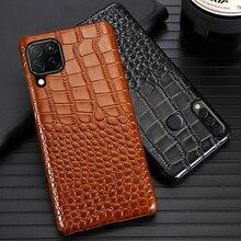 עור טלפון מקרה עבור Huawei Mate 40 30 20 20X 10 P20 P30 לייט P40 פרו בתוספת P Smatr נובה 5T Y6 Y9 2019 תנין מרקם כיסוי