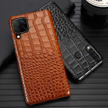 Leder Telefon Fall Für Huawei Mate 40 30 20 20X 10 P20 P30 Lite P40 Pro Plus P Smatr Nova 5T Y6 Y9 2019 Krokodil Textur Abdeckung