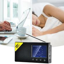 Terminal głośnikowy słuchawki przenośne domu za pomocą Radio cyfrowe dla DAB 2.4 Cal wyświetlacz LCD ekran wyjście Stereo głośnik