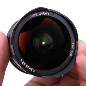 Image 4 - RISESPRAY 7.5mm f2.8 fisheye עדשת 180 APS C ידני קבוע עדשה עבור Sony E הר מכירה לוהטת משלוח חינם