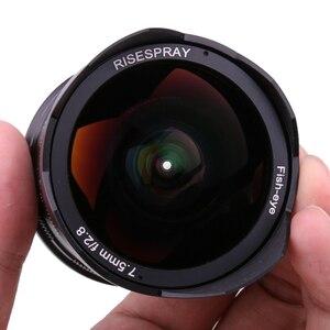 Image 3 - RISESPRAY lente de cámara de 7,5mm f2.8, lente de ojo de pez de 180 APS C, lente fija Manual para Fuji montaje FX, gran oferta, envío gratis