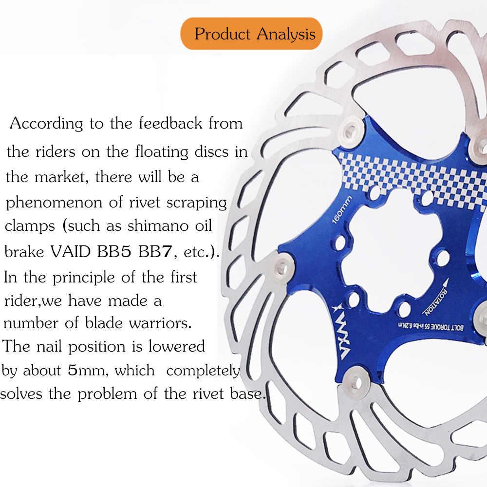 VXM vélo flottant frein disque flotteur/ultraléger vtt vélo plaquettes de frein six trous disques rotors 140/160/180/203mm pièces de vélo