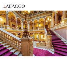 Laeacco خلفية للتصوير الفوتوغرافي لاستوديوهات الصور ، خلفية رائعة للقصر الملكي ، السلالم ، للتصوير الفوتوغرافي