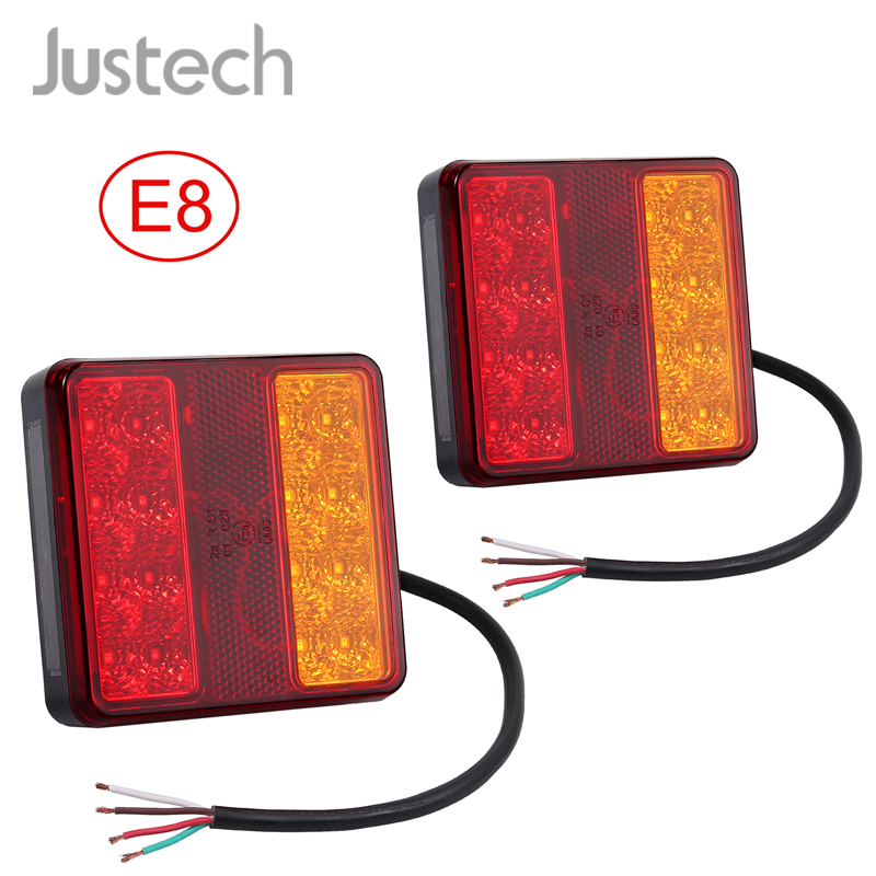 Justech 2 x Number Plate Lights LED License Plate Light Rear Lamps Universal 12V