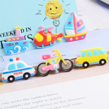 10 Pcs Resin Accessories Transportation Slime Clay Charm Filling Accessories Kids Toy Personality Handmade DIY Accessories