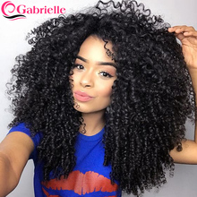Gabrielle Hair Weave Bundles Malaysian Kinky Curly Hair Bundles Weave Remy Human Hair Extension Natural Color Free Shipping
