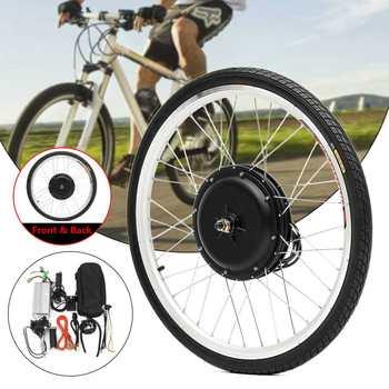 Ebike-Kit de conversión de Bicicleta eléctrica, Motor de 48V y 1000W, rueda trasera/delantera de 26 pulgadas y 700C