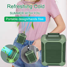 Electric Air Cooler USB Rechargeable Hang Up The Waist Halter Convenient Fan Air Conditioning Fan 3-Speed Wind for Home - DISCOUNT ITEM  30% OFF Home & Garden