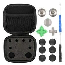 11 Pcs Controller di Gioco In Metallo Magnetico Thumbsticks Parti di Ricambio per X box One Elite P aeS 4 NS Interruttore