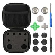 11 adet oyun denetleyicisi Metal manyetik Thumbsticks için yedek parçalar xbox One Elite P aeS 4 NS anahtarı