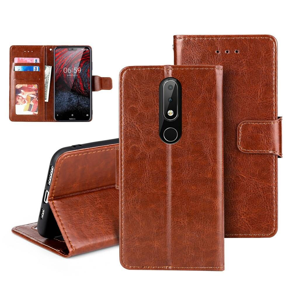 Luxury PU <font><b>Leather</b></font> Wallet <font><b>Flip</b></font> <font><b>Leather</b></font> <font><b>Case</b></font> for <font><b>Nokia</b></font> 2.3 6.2 7.2 3.1C 3.1A 9 PureView 8.1 Plus X71 C1 Magnetic Cover Card Slot image