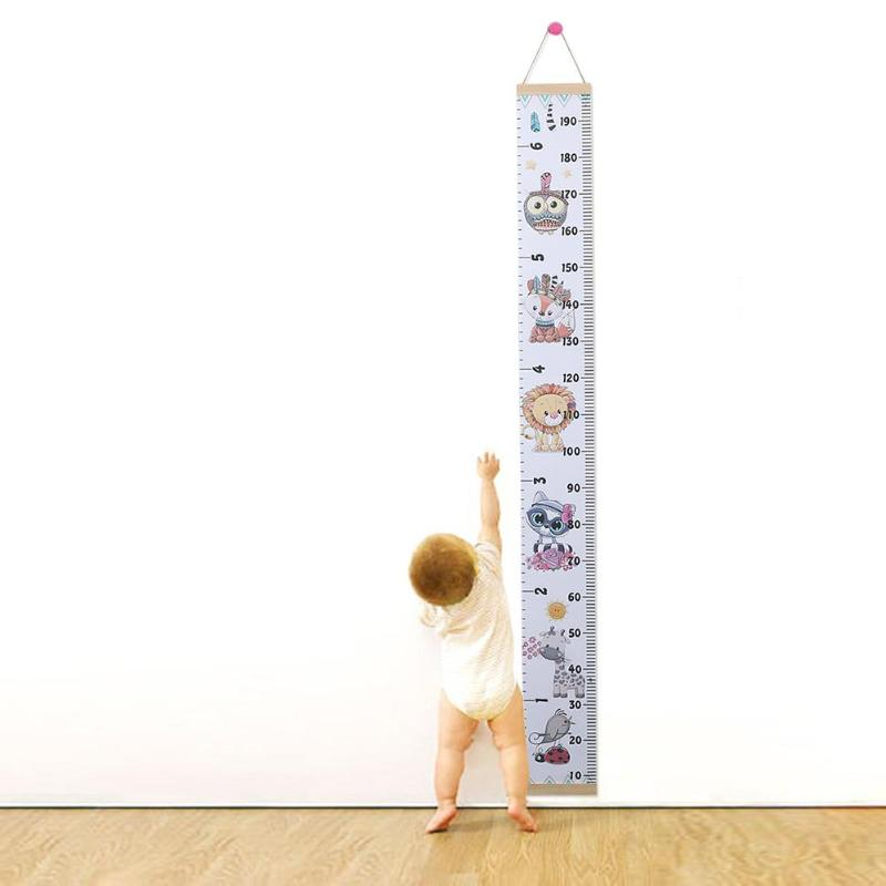 Canvas Height Measure Ruler Simple Creativity Memorial Of Infant Growth Kids Children Room Decorative Growth Charts Hanger