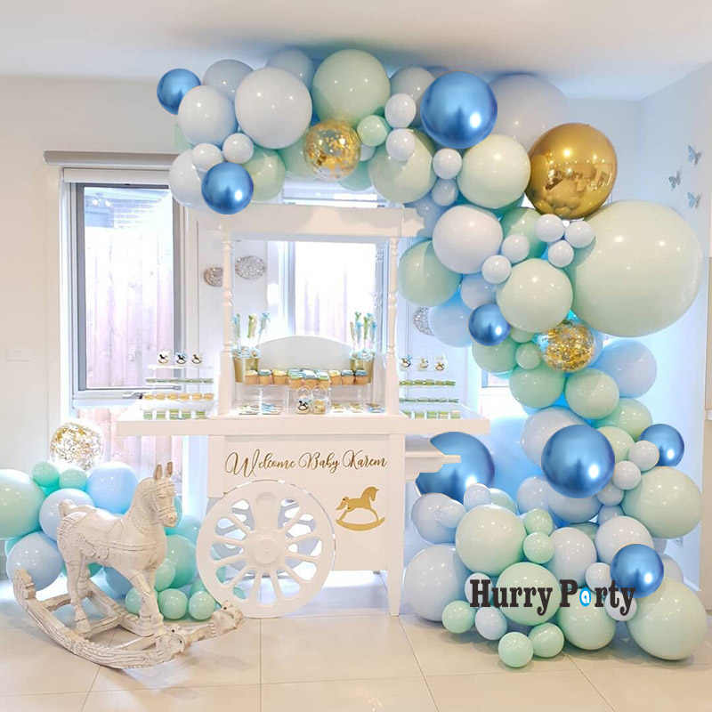 124pcs Macaron Pastel Balloons Garland Arch Kit Confetti Balloon For Anniversary Wedding  Party Decoration Baby Birthday Shower