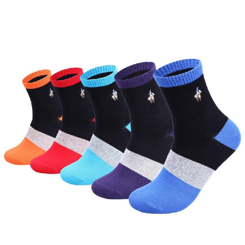 2019 PIER POLO мужские носки модные повседневные цветные полосатые носки мужские вышитые хлопковые носки зимние теплые подарочные носки 39-44
