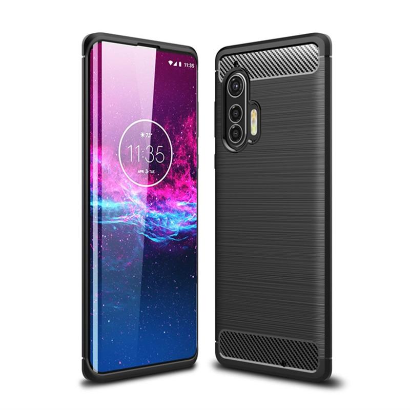 For Motorola Edge Plus Case For Motorola Edge Bumper Carbon Fiber Back Cover For Motorola Moto Edge+ Phone Cases Funda 6.67''