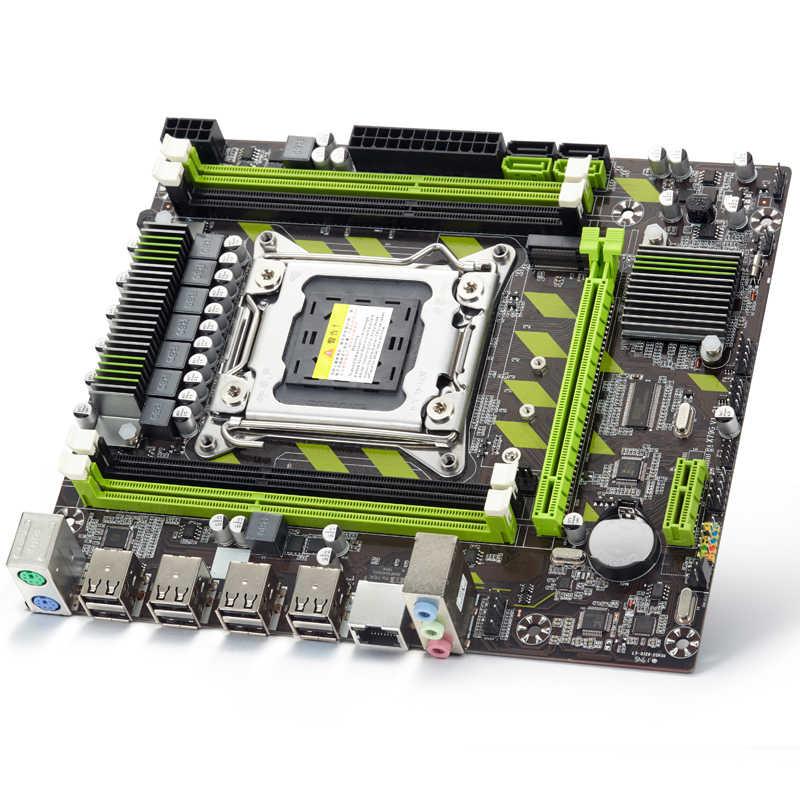 Atermiter X79 X79G Scheda Madre LGA2011 Mini-Atx Combo E5 2630 V2 E5-2630 V2 Cpu 2 Pcs X 4 Gb = 8 Gb DDR3 Ram 1600Mhz PC3 12800R