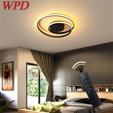 WPD Led Ceiling Lights Round Fixtures with Remote Control 3 Colors Brightness Adjustable and Dimmable For Home