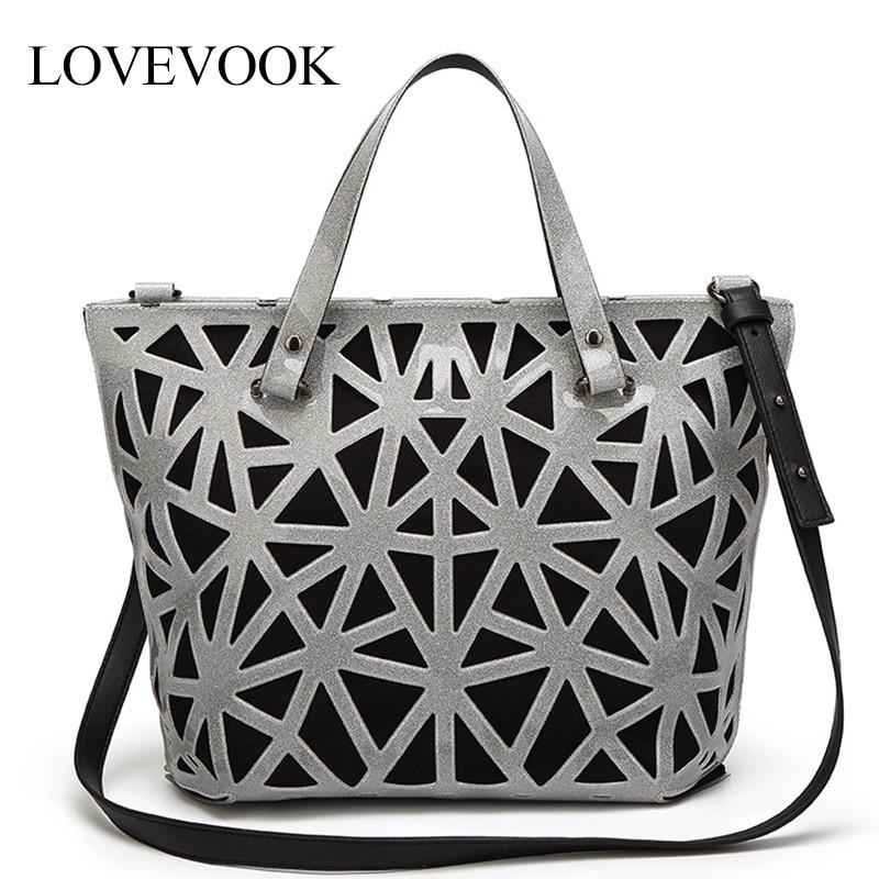 Bolsas de Luxo Bolsas de Ombro para Senhoras Lovevook Bolsas Femininas Designer Moda Crossbody Feminino 2020 Grande Tote Geométrico