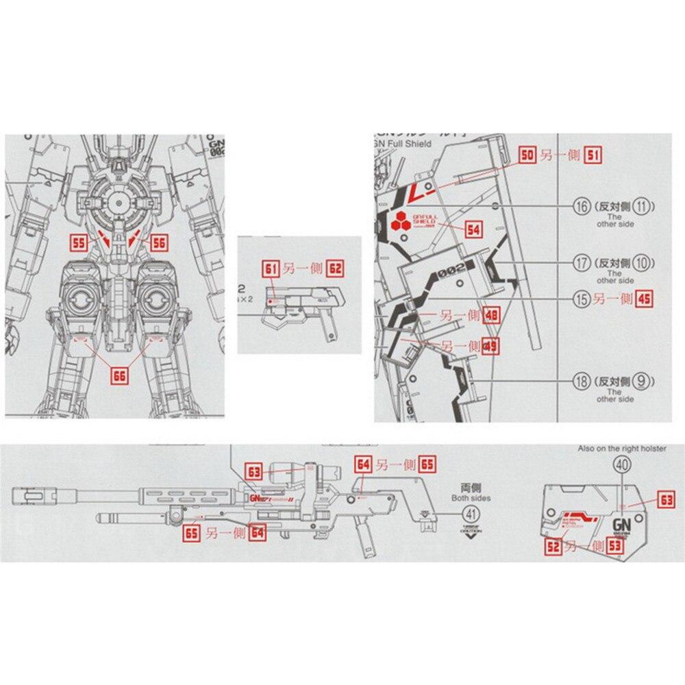 Image 3 - DL Modelo Decalque Água Adesivos GN12 para Kit Modelo Gundam Dynames Bandai MG 1/100 GN 002Kits de modelo de construção   -