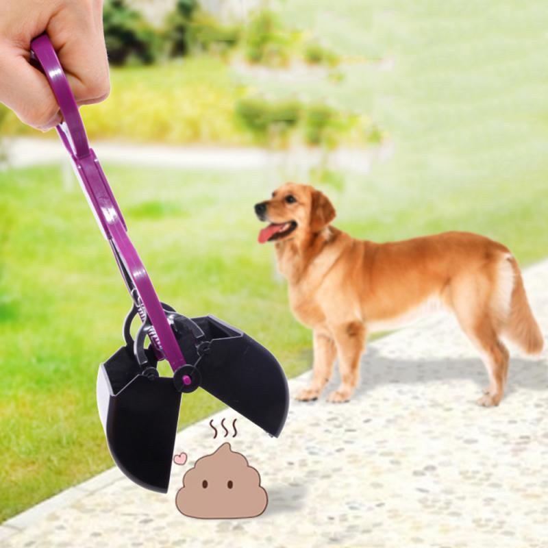 1PC Long Handle Portable Folding Pet Dog Clip Waste Clean Pick Up Shovel Poop Removal Pooper Scooper