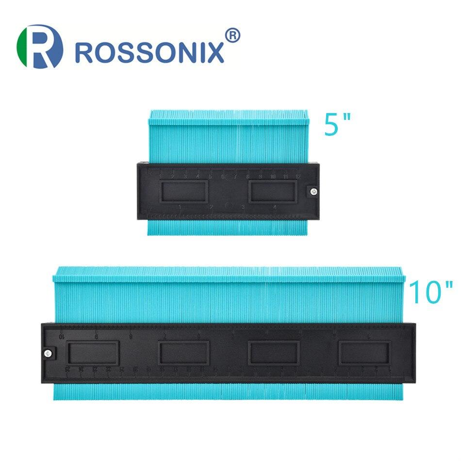 Rossonix 2 Pcs Form Kontur Gauge Duplizierer 5 zoll 10 zoll Kunststoff Profil Kopie Gauge Holz Kennzeichnung Wicklung Rohr Fliesen laminat