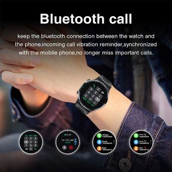 LIGE New Smart watch Men Heart rate Blood pressure Full touch screen sports Fitness watch Bluetooth for Android iOS smart watch 4