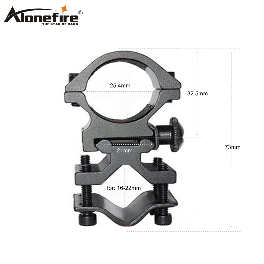 Alonefire K185 Sight Scope Mount Universal Pipe Clamp Airsoft Rifle Shot Gun Weapon Gun Laser Light Adapter Flashlight Torch