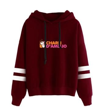 charli damelio merch Sweatshirt Men/Women Print Ice Coffee Splatter Hoodies Fashion Hip Hop hoodie Pullovers Tracksuit Clothes 5