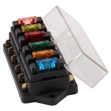 Автомобильный блок предохранителей с 6 отверстиями со стандартным