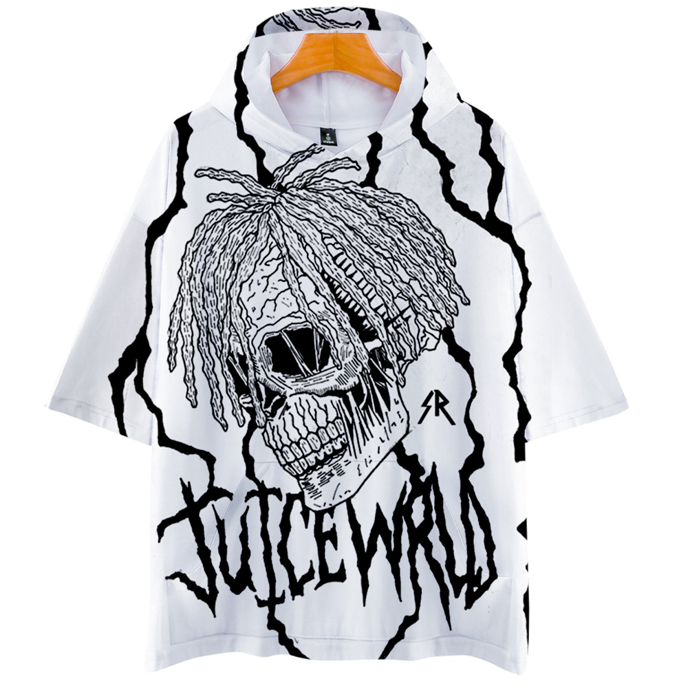 Rapper Juice WRLD Hip Hop Emo Trap Lucid Dreams 2019 NEW 3D Print Hooded Men/Women Harajuku Hoodie Short Sleeve Hooded Clothes