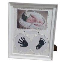 Hlzs-photo Cadre bébé Photo Cadre nouveau-né mur pour photos empreinte digitale tampon d'encre Cadre enfant anniversaire cadeau Cadre chambre décor