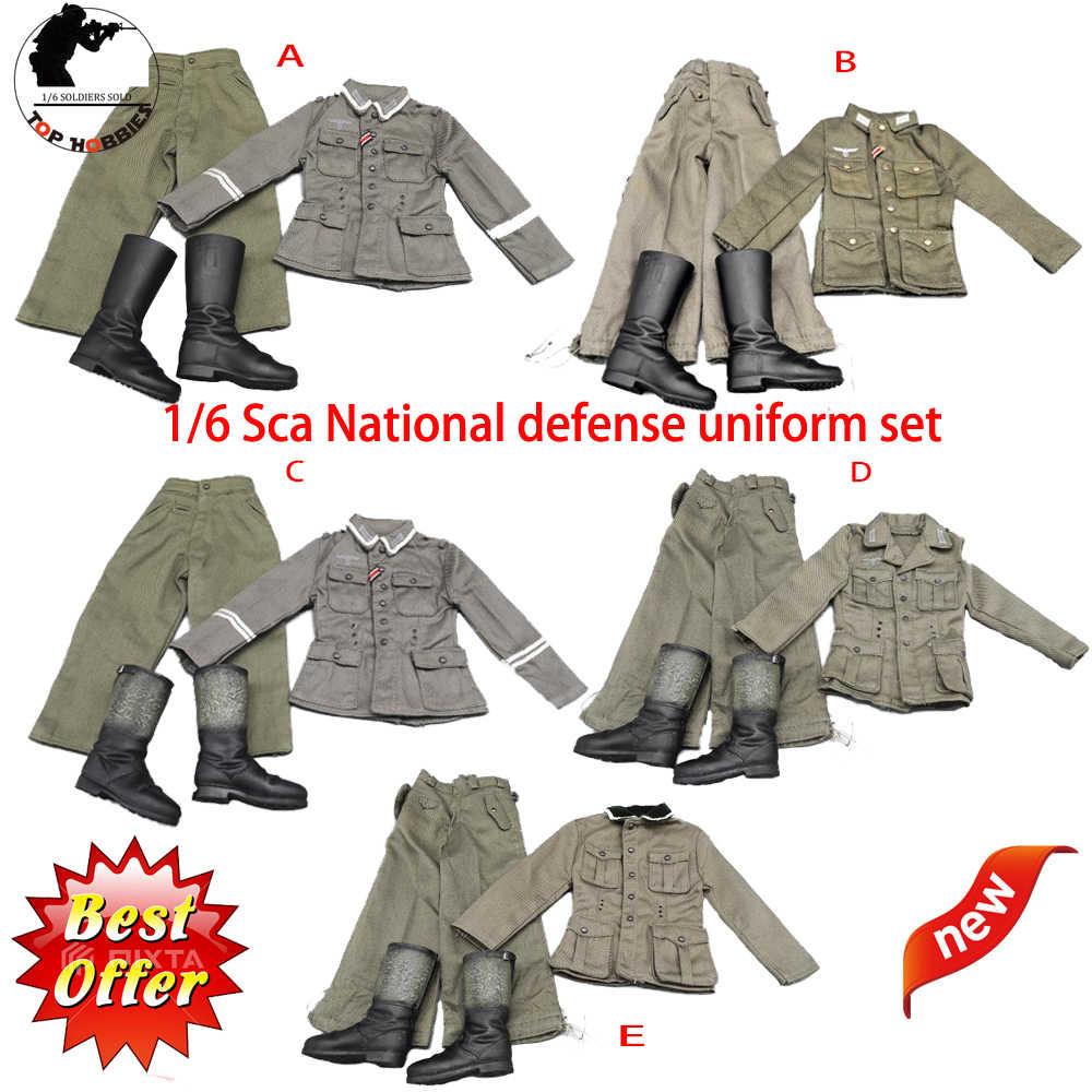 Hot Uniforms Coveralls Suit Winter clothing 1//6 Scale Combat Uniform Coat Pants