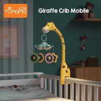 Baby Rasseln Krippe Mobiles Spielzeug Halter Drehen 360 ° flexible Rotation Mobile Neugeborenen Krippe Musical Box Projektion Infant Baby spielzeug