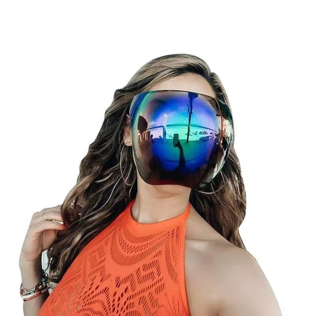 Faceshield Protective Sun Glasses Women Bicycle Cycling Eyewear Safety Goggles Anti-Spray Mask Bike Riding Protection Sunglasses 1