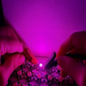 Image 4 - 100 teile/los 3W 45mil 380nm 840nm 3,2 3,6 v 700mA Volle Geführte spektrum Wachsen Licht Dioden Für anlage Wachsen mit 20mm Schwarz PCB stern
